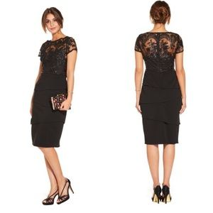 NWOT Adrianna Papell Tiered Cocktail Dress Lace